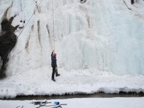 Aspen, Colorado - Ice Climbing, Picking a Route.