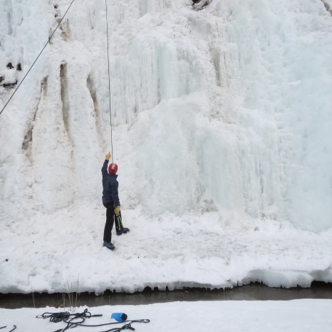 Aspen, Colorado - Ice Climbing, Picking a Route.