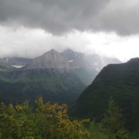 Glacier National Park, Montana - View from Going-to-the-Sun Road.