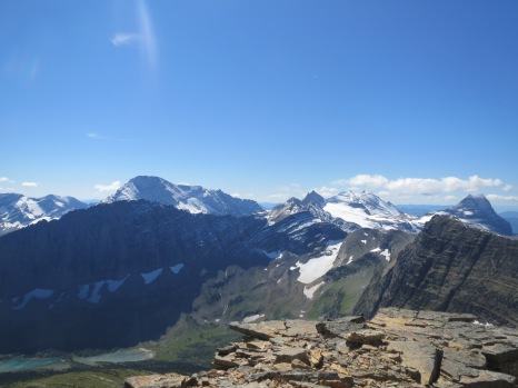 Glacier National Park, Montana - View from Reynolds Mountain cliffs.