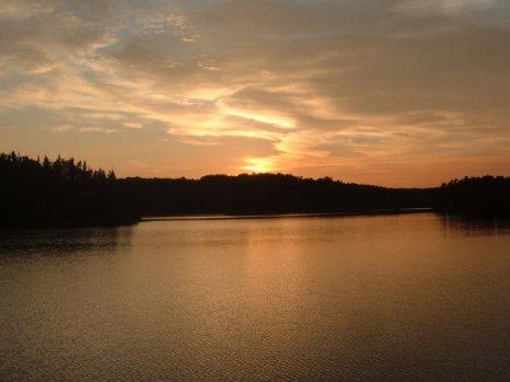 Quetico Provincial Park, Canada - Sunset.