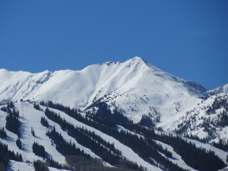 Snowmass, Colorado - Ski Slopes in February.